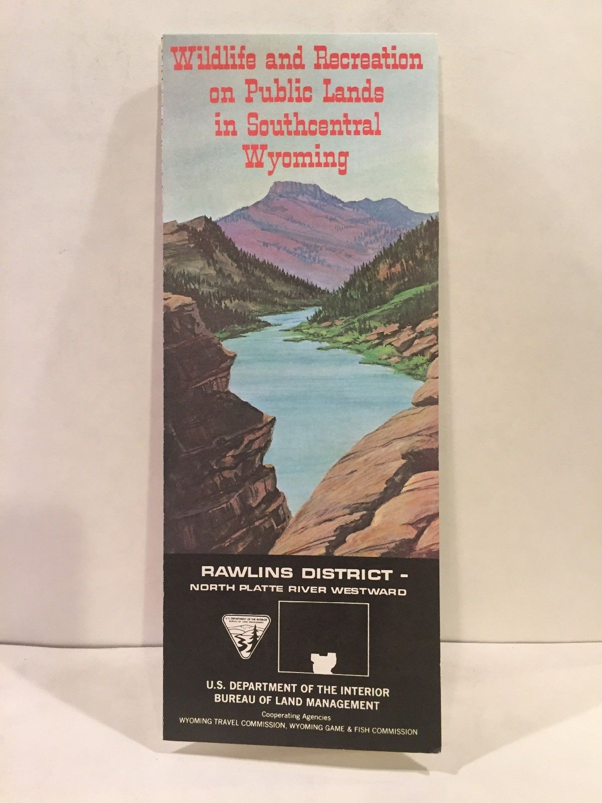 1967 Wildlife and Recreation on Public Lands in Southcentral Wyoming Map  Rawlins