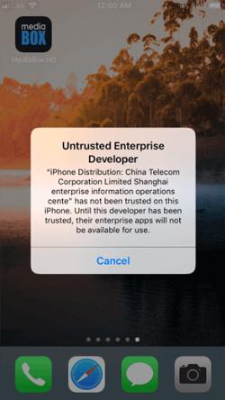 Install MediaBox on iPhone