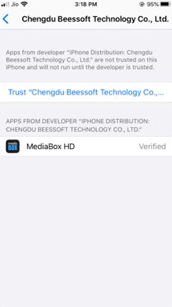 Install MediaBox HD on iPhone