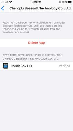 Install MediaBox HD APK on iPhone