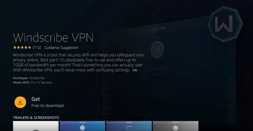 Install Windscribe VPN on Firestick