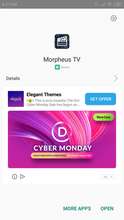Install Morpheus TV App on Android Smartphones