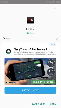 Install FlixTV on Android Smartphones