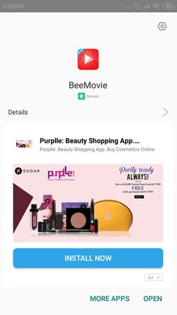Install BeeMovie App on Android Smartphones
