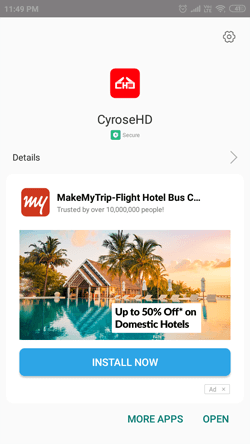 Install Cyrose HD App on Android Smartphones