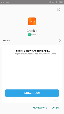Install Sony Crackle on Android Smartphones
