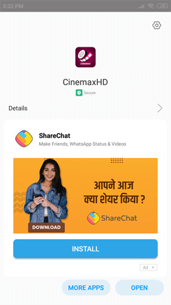 Install CinemaxHD App on Android Smartphones