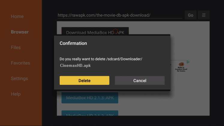 Install CinemaxHD APK on Firestick