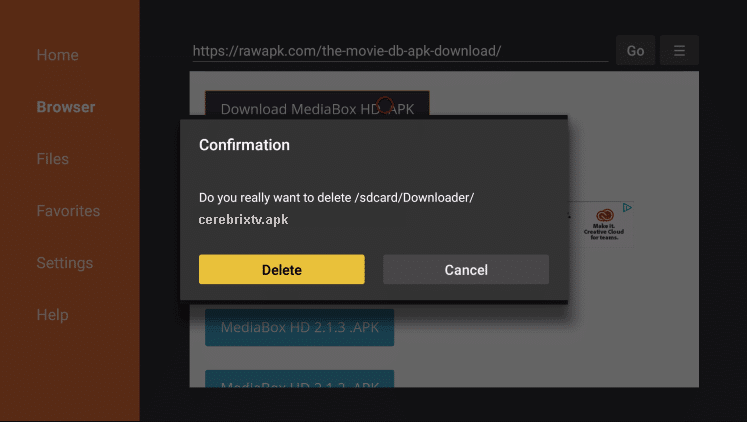 Install Cerebrix TV APK on Firestick