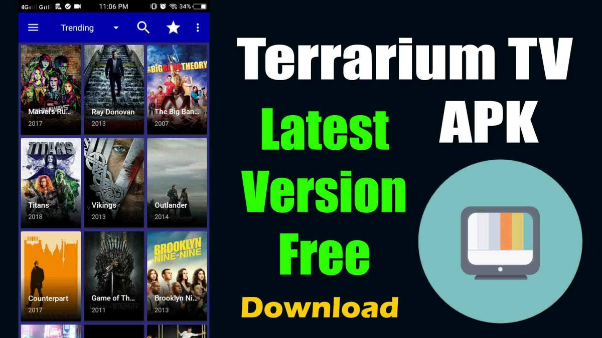 Terrarium TV APK Download App for Android, iOS & PC | Cyberflix APK