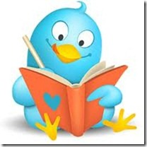 Twitter Bird With Book