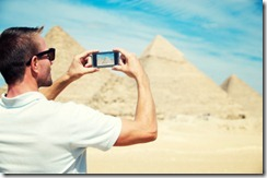 photographing pyramids