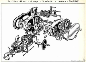 Parilla 1958 49cc Parillino Engine Diagram