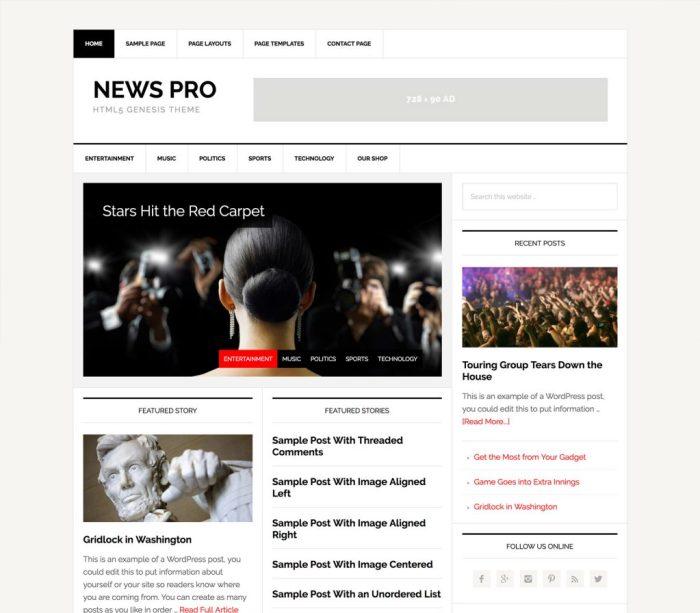 news pro theme review