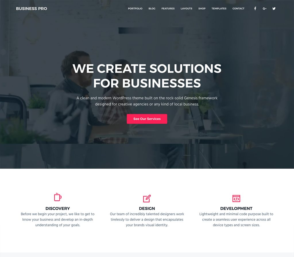Business pro theme from studiopress