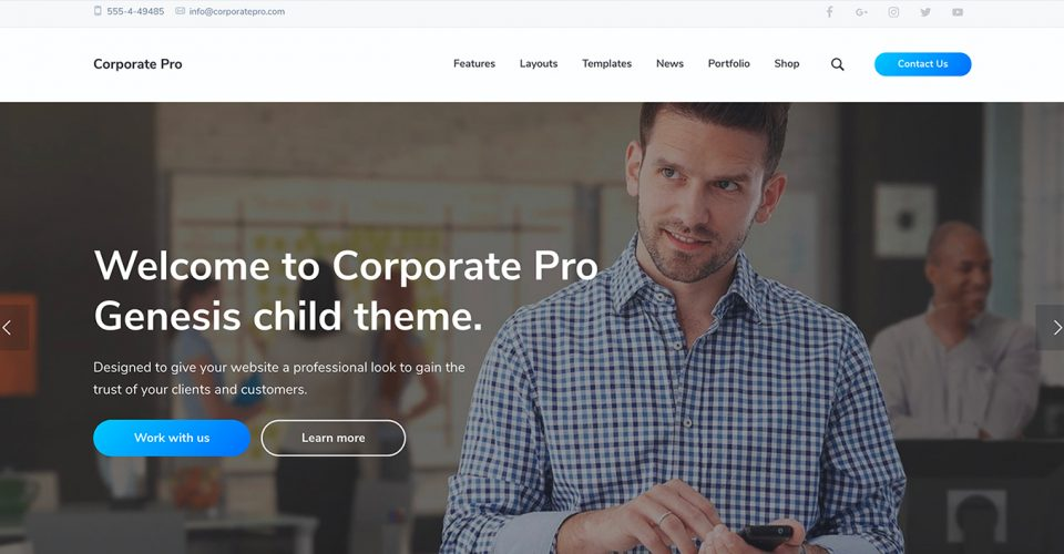 corporate pro theme image