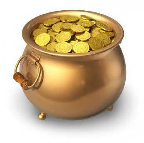 golden pot with money