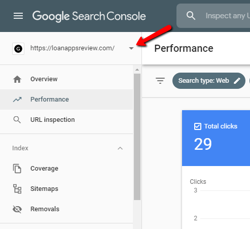loan apps review search console data