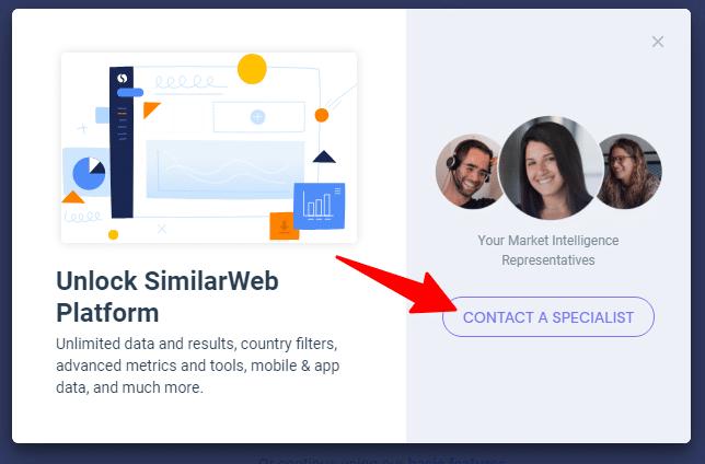 Pop up notification box in Similarweb