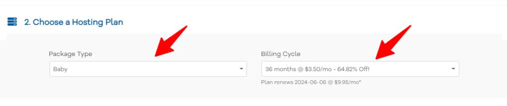 Editing hosting plan in hostGator