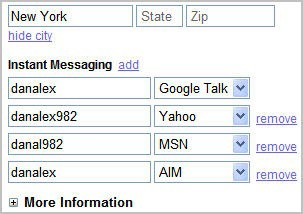Gmail Contacts Messenger