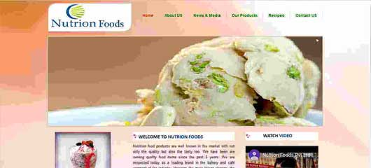 Web design of Food products company