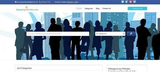 Web design of Searchgatein