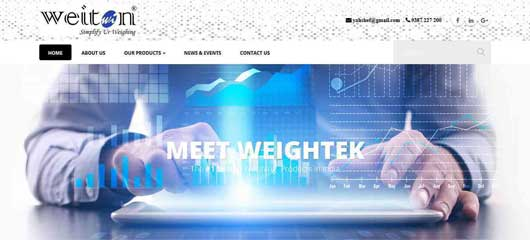 Web design of Weightek