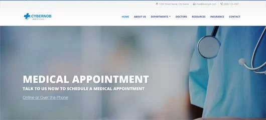 web design for Hospital