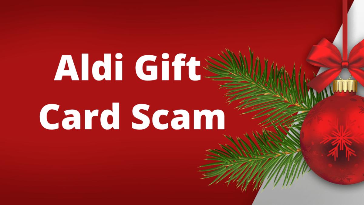 Aldi Gift Card Scam