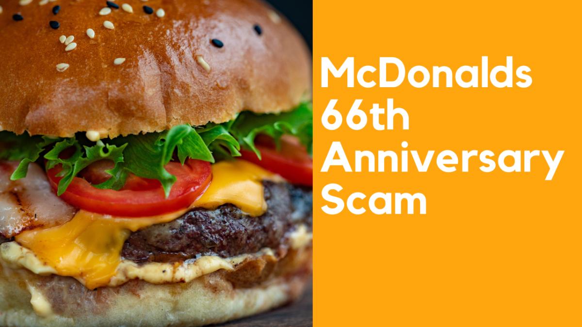 McDonalds 66th Anniversary Scam