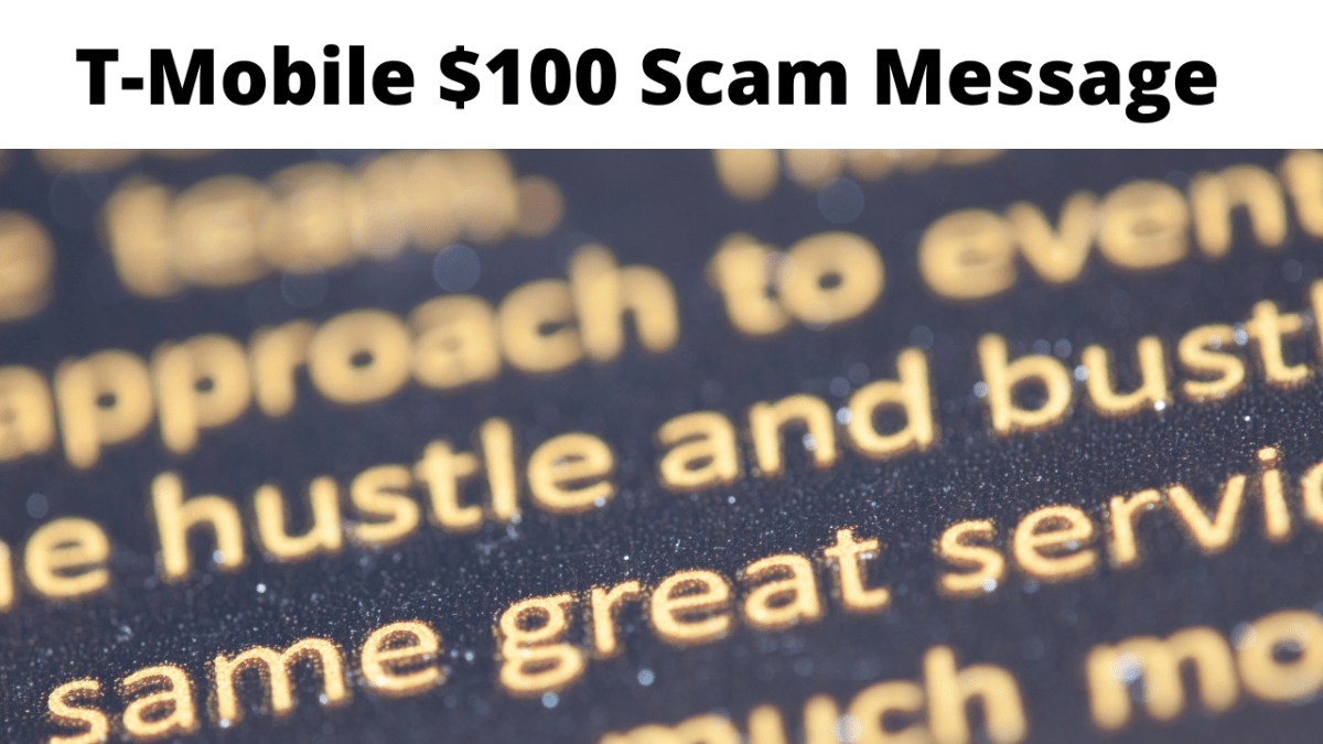 T-Mobile $100 Scam Message