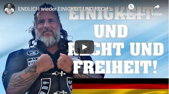 ENDLICH wieder EINIGKEIT UND RECHT UND FREIHEIT! Sonst verschwindet Deutschland!