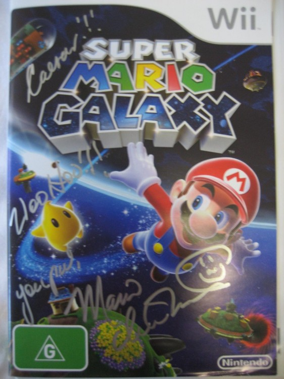 My autographed copy of Super Mario Galaxy