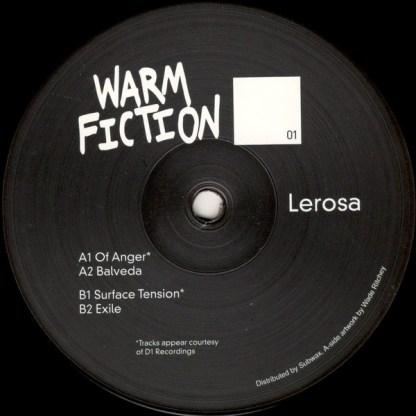 Warm fiction - Lerosa - vinilos de musica electronica