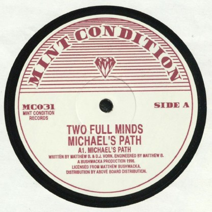 Mint Condition - Two Full Minds - vinilos de musica electronica