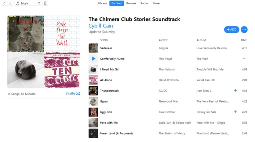 Itunes Screen Shot Chimera Club List v2
