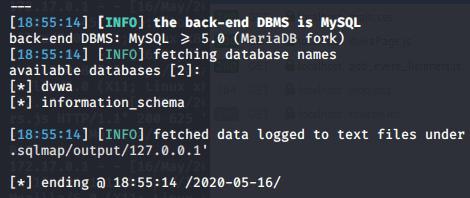 SQLMap finding database names