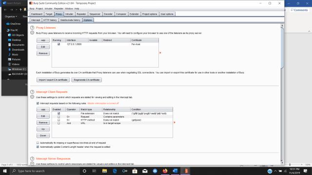 Configuring certificates for Burp Suite