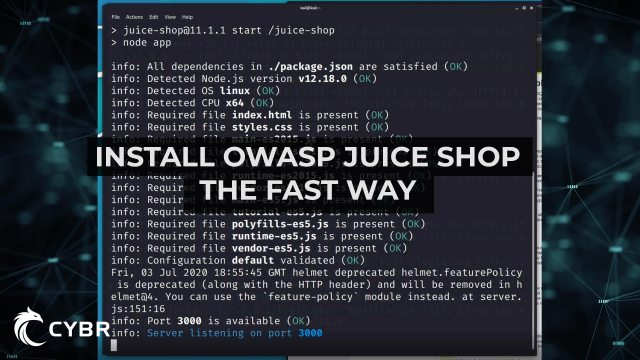 Install OWASP Juice Shop on Kali Banner