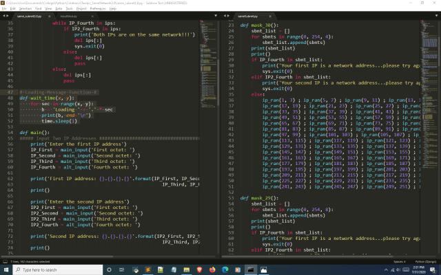 Python subnet calculator wait_time