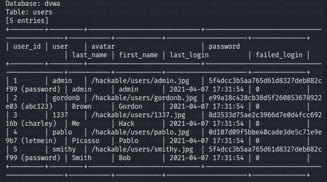 Guide to sqlmap course showing cracked password