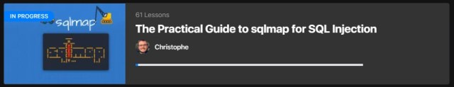 sqlmap course page and syllabus