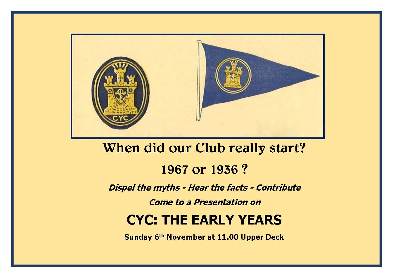 When Did Our Club Really Start 50 Or 80 Years Ago Do