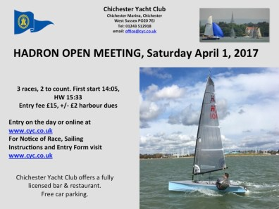 HADRON OPEN 2017 POSTER CHICHESTER YC