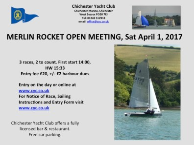 MERLIN OPEN 2017 POSTER CHICHESTER YC