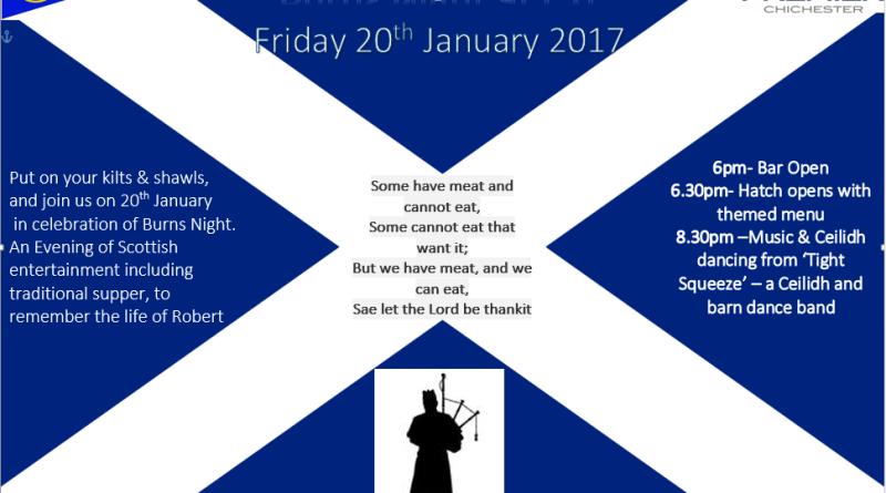 Burns Night – Friday 20th January