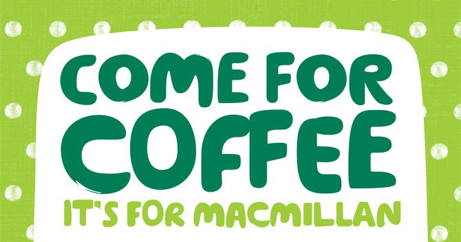 Macmillan Coffee Morning at CYC- Friday 28th September, 10.30am