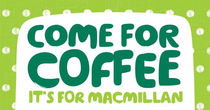 Macmillan Coffee Morning at CYC- Friday 28th September, 10.30am