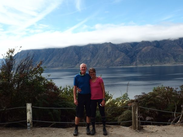 Stopped for a photo by Lake Hawea